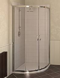 Aqualux Aqua 4 Quadrant Shower Enclosure 800 x 800 Silver - FEN1190AQU