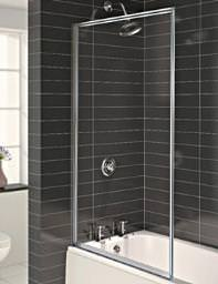 Aqualux Aqua 3 Fully Framed Bath Screen Pearl Silver - FS6265AQU