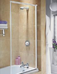 Aqualux Aqua 3 Fully Framed Bath Screen White - FS6456AQU