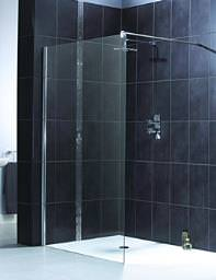 Aqualux Shine Shower Panel 800mm Polished Silver - FEN1011AQU