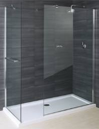 RAK Deluxe 8 Walk In Shower Front Glass Panel 800mm