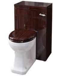 Burlington Mahogany WC Unit Including Concealed Cistern - F3M