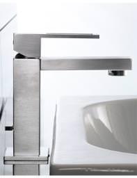 Porcelanosa Noken Irta Single Lever Stainless Steel Finish Basin Mixer Tap