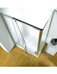 Kudos Original 1000mm Silver Straight Pivot Door With Tray And Waste