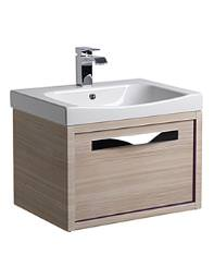 Roper Rhodes Breathe 600mm Wall Mounted Unit Pale Driftwood And Basin