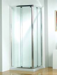 Kudos Original 760mm Silver Corner Slider Shower Door With Tray And Waste