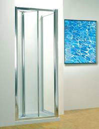 Kudos Original 900mm Silver Bifold Shower Door With Tray And Waste