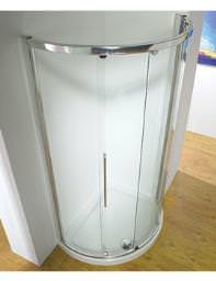 Original 1000mm Silver Curved Slider Door Side Access With Tray And Waste