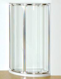 Kudos Original 810mm Double Silver Curved Slider Door With Tray And Waste