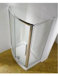 Kudos Original 1500mm Bow Fronted Slider Door With Tray And Waste