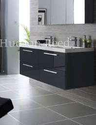 Hudson Reed Quartet Wall Hung Basin And Cabinet - RF036