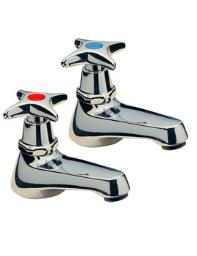 Tre Mercati Capri Crosshead Pair Of Basin tap Chrome - 341