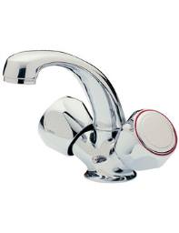 Tre Mercati Capri Spray Mono Basin Mixer Tap With Clear Heads - 376B
