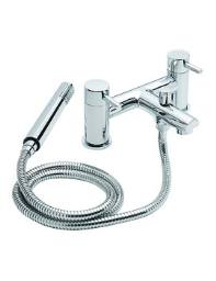 Tre Mercati Hula Pillar Mounted Bath Shower Mixer Tap With Shower Kit