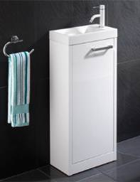 HIB Solo Floor Standing Vanity Unit 400 x 845mm White - 9602200