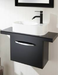 HIB Cassino Wall Hung Unit 400mm Black - 9501400