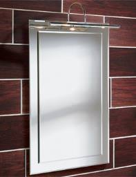 HIB Milan Illuminated Bathroom Mirror With Over-light 400 x 600mm