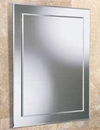HIB Emma Rectangular Bevelled Mirror On Mirror 400 x 500mm