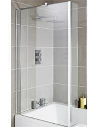 Lauren Quattro Square Shower Centrally Hinged 1400mm Bath Screen