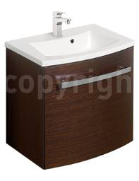 Bauhaus Stream Wenge Wall Hung 1 Door Basin Unit 440mm - ST4400WG