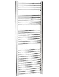 Bauhaus Stream 600 x 1430mm Curved Towel Warmer Chrome - ST60X143C