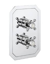 Crosswater Belgravia Crosshead Thermostatic Shower Valve With 3 Way Diverter