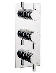 Crosswater Logic Thermostatic Shower Valve 3 Control - Portrait