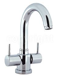 Crosswater Mike Lever Monobloc Basin Mixer Tap With Pop-Up Waste