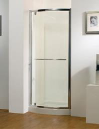 Kudos Original 900mm Silver Bowed Pivot Door With Tray And Waste