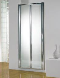 Kudos Original 900mm White Bi-fold Shower Door With Tray And Waste