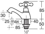Technical Image of Ideal Standard Kingston Pair Of Basin Taps - E6045AA
