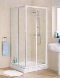 Lakes Classic Silver Frame Corner Entry Shower Cubicle 800 x 1850mm