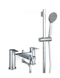 Abode Debut Delux Deck Mounted Bath Shower Mixer Tap With Kit