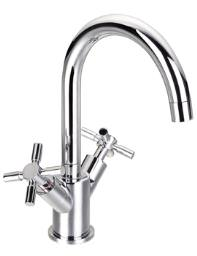 Flova XL Basin Mixer Tap With Clicker Waste - XLBAS