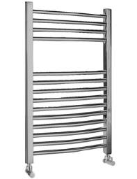 Ultra Curved Heated Towel Rail 500 x 700mm Chrome - HK385
