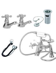 Mayfair Ritz Basin And Bath Shower Mixer Tap Pack - RZ033