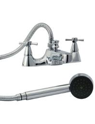 Ultra Riva Deck Mounted Bath Shower Mixer Tap With Kit - PY304