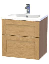Miller London 60 Oak Two Drawer Wall Hung Vanity Body - 588-5T