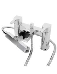 Beo Cascade Deck Mounted Open Spout Bath Shower Mixer Tap With Kit