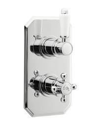 Old London Chrome Twin Concealed Thermostatic Shower Valve - LDNV01