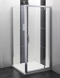 Balterley Framed Pivot Shower Door 800mm - BYSEFPD8