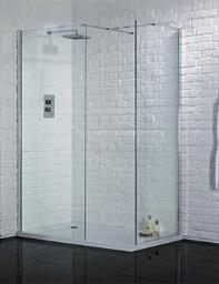 Aquadart Wetroom Walk In Shower Glass Panel 760mm - AQ2002