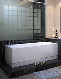 Beo Waterfall Single Ended 5mm Acrylic Rectangular Bath 1700 x 700mm