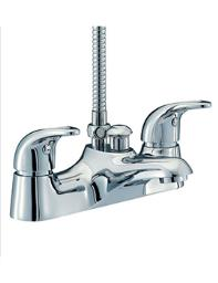 Beo Atlas Deck Mounted Bath Shower Mixer Tap Chrome
