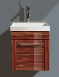 Duravit 2nd Floor Rosewood 380mm Wall Hung Vanity Unit With 400mm Basin