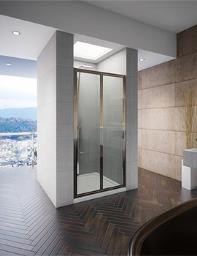 Beo Designer Frameless Bi-Fold Shower Door 760 x 1850mm