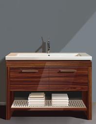 Duravit 2nd Floor Rosewood 1180mm Floor Standing Vanity Unit With Basin