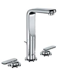 Grohe Spa Veris 3 Hole Basin Mixer Tap Half Inch Chrome - 20180000
