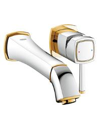 Grohe Spa Grandera Chrome And Gold 2 Hole Basin Mixer Tap 177mm