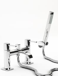 Beo Wafture Deck Mounted Bath Shower Mixer Tap With Kit Chrome